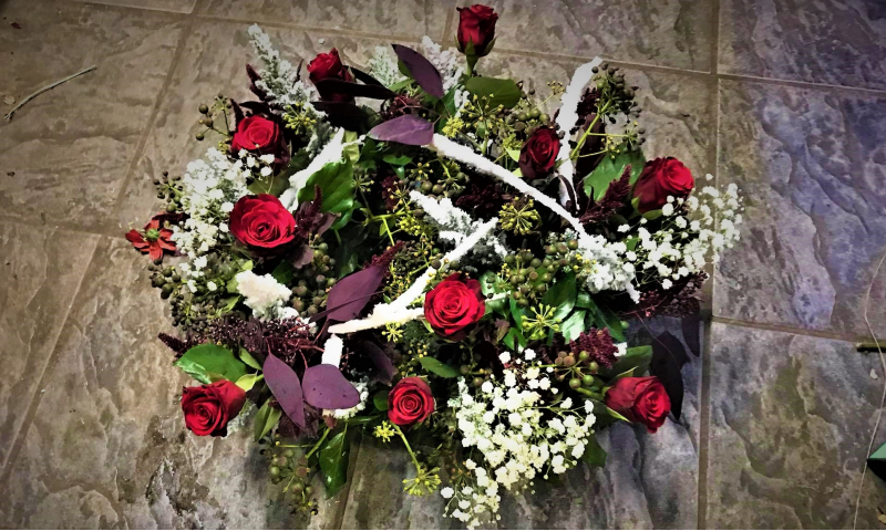 Christmas Rose Wreath